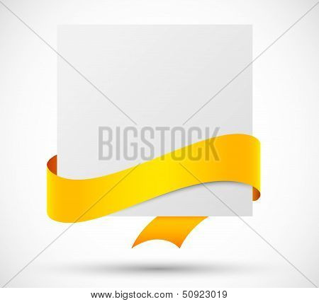 Card with orange ribbon