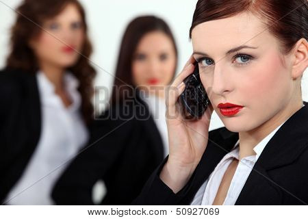 Three driven businesswomen
