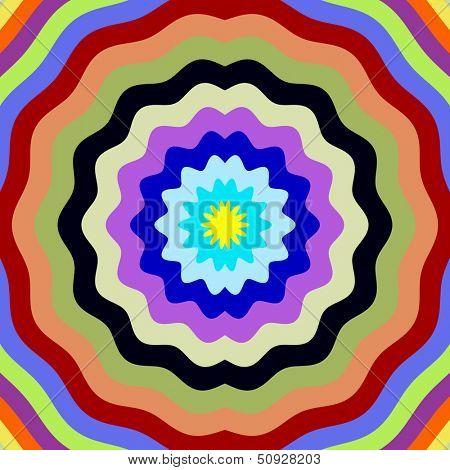 Digital flower petal shape colors effect illustration.