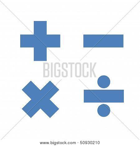 Simple mathematics symbols