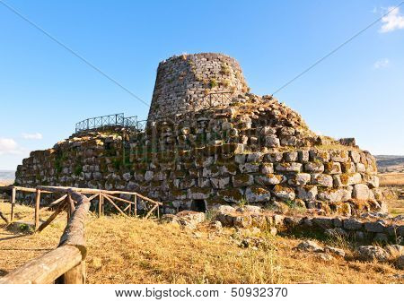 Ancient megalithic Nuraghe Santu Antine in Sardinia, Italy