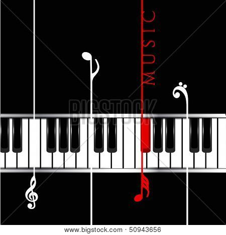 Musical concept with piano, can be use as flyer, poster, banner or background for musical parties and concert.
