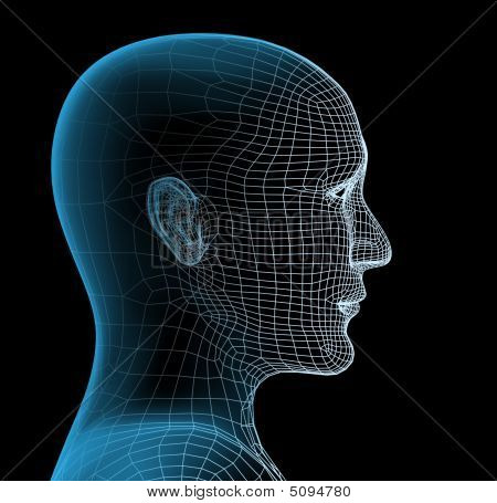 Transparent Head Of The Person