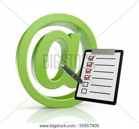 Email sign with clipboard