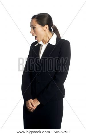 Shocked Businesswoman
