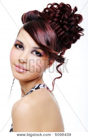Pretty Girl With Creative Hairstyle