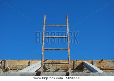 Ladder To Access Framework On Roof