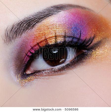 Bright Multicoloured Make-up