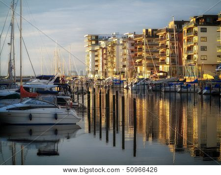 Malmo, Sweden Marina On August 7, 2013
