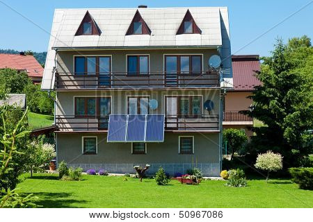 Solar panel on a residential house