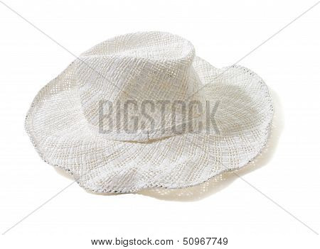 White Straw Woven Floppy Hat