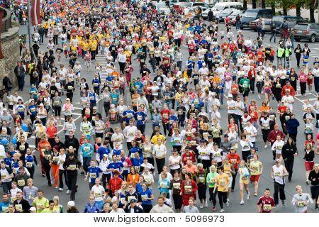 Corredores de maratona mini