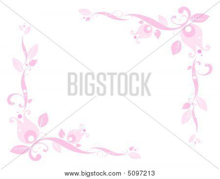 Pink Floral Corner