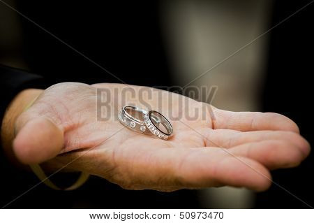 Wedding Rings In Groomsmen Hand