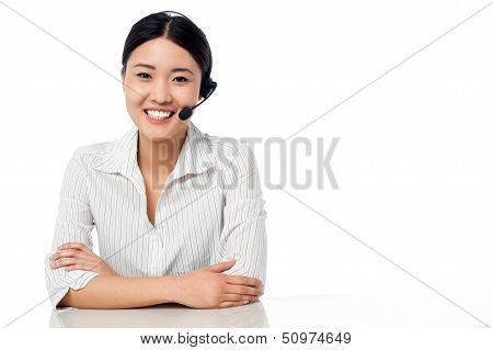 Young Help Desk Executive At Your Service