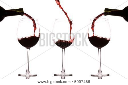 Pouring And Splashing Wine