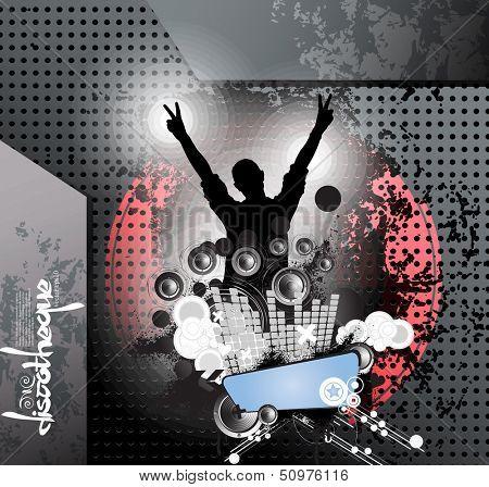 Concert poster. Vector