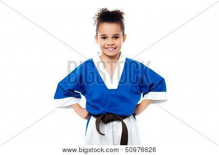 Smiling Young Karate Kid
