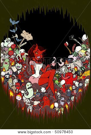 teatime in hell illustration