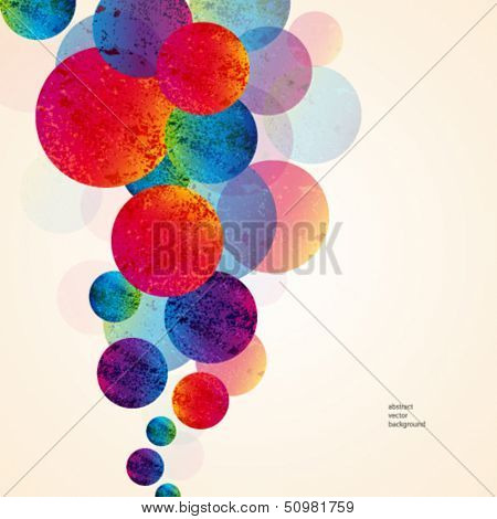 abstract design tech circles background. vector