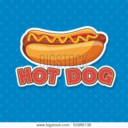 Vector illustration with Hot Dog
