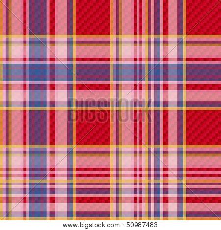 Checkered Fabric Seamless Pattern