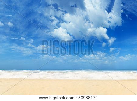 Paradisiac beach in the tropics