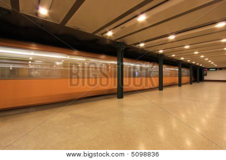 Metro Station In Budapest