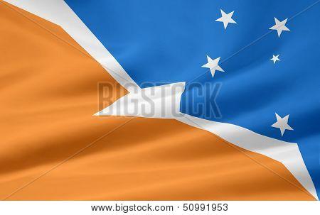 Flag of Tierre del Fuego -Argentina