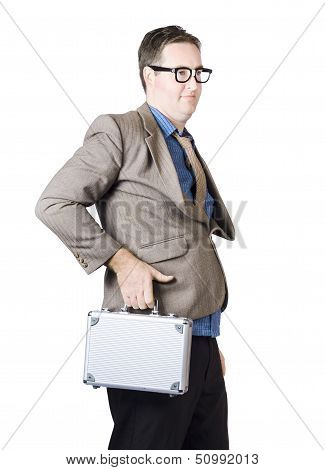 Businessman With Silver Briefcase