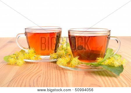 Two Cups With Tea