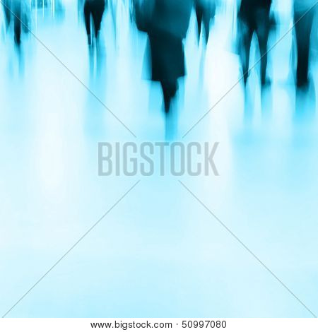 Abstract image of people in motion blur.