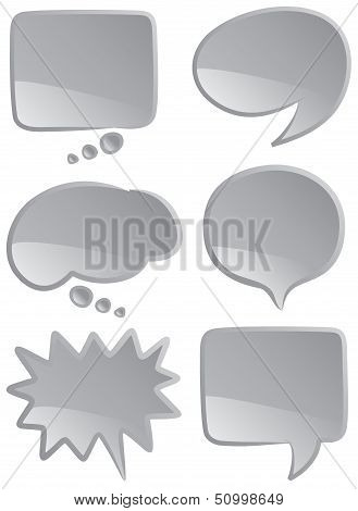 Speech Bubbles Mono