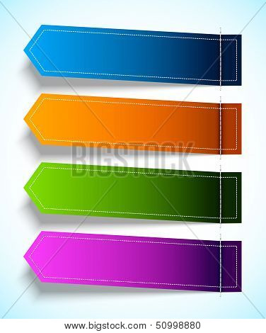 Set of colorful tag