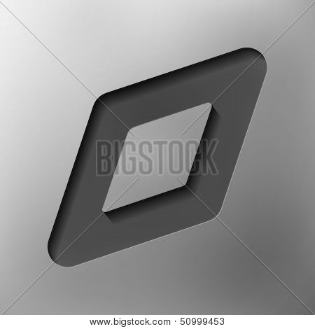 parallelogram object, abstract icon