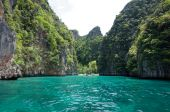 pic of phi phi  - view from the maya beach at phi phi leh island thailand - JPG