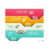 Abstract infographics steps design template. Vector.