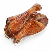 Turkey Smoked Legs In A Vacuum Package