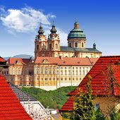 stock photo of benediction  - Benedictine abbey in Melk - JPG