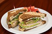 picture of deli  - A deli classic turkey sandwich with avocado on rye bread - JPG