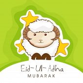 picture of eid ul adha  - Muslim community festival of sacrifice Eid Ul Adha greeting card or background with sheep on abstract vintage background - JPG