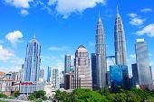 picture of kuala lumpur skyline  - Kuala Lumpur city skyline - JPG