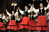 ZAGREB,CROATIA - JULY 18: Members of folk groups Gero Axular from Spain in Basque national costume d