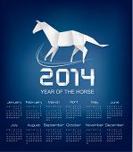 stock photo of tuesday  - Calendar for the year 2014 - JPG