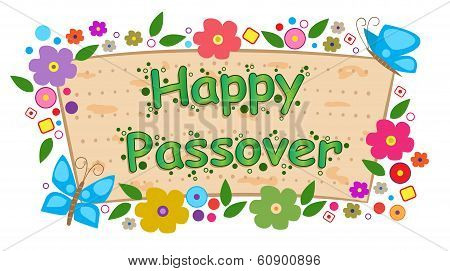 Floral Passover Banner