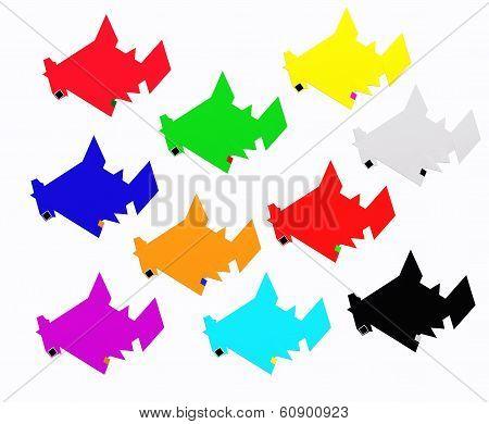 Ten sharks