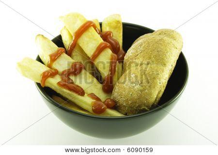 Frys In A Black Bowl