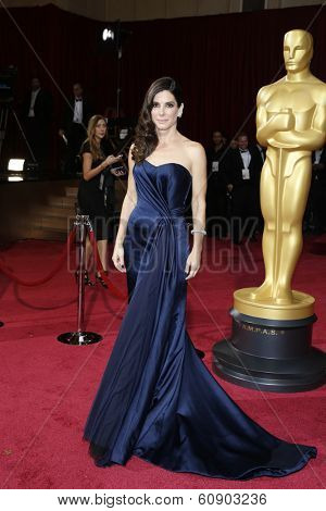 LOS ANGELES - MAR 2:: Sandra Bullock  at the 86th Annual Academy Awards at Hollywood & Highland Center on March 2, 2014 in Los Angeles, California