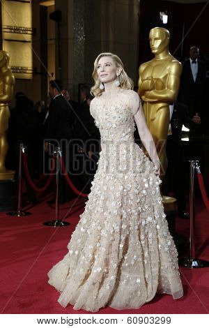 LOS ANGELES - MAR 2:: Cate Blanchett  at the 86th Annual Academy Awards at Hollywood & Highland Center on March 2, 2014 in Los Angeles, California