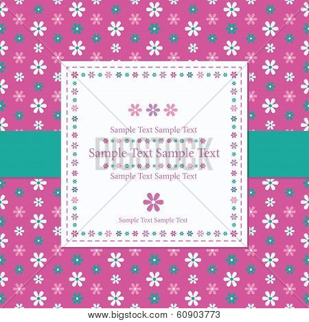 flowery pink greeting card